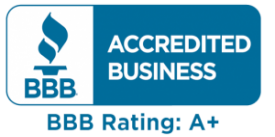 we are accredited business BBB rating A+