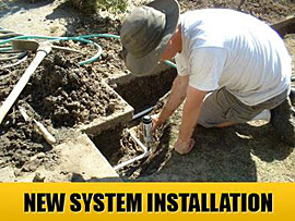 new system installation - our irirgation contractors handle new system design & installation